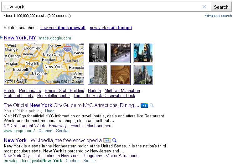 Google +1 SERPs