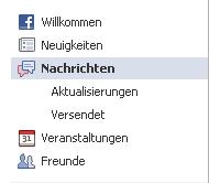 Facebook Ansicht Aktualisierung alt
