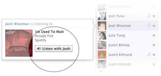 Facebook Music Listen With Friends