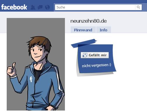 Facebook-Seite neunzehn80.de