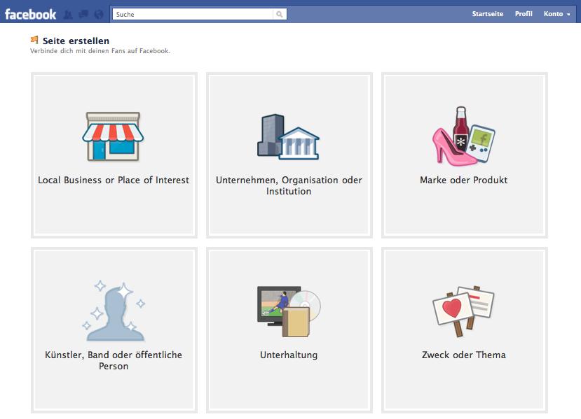 facebook seiten erstellen