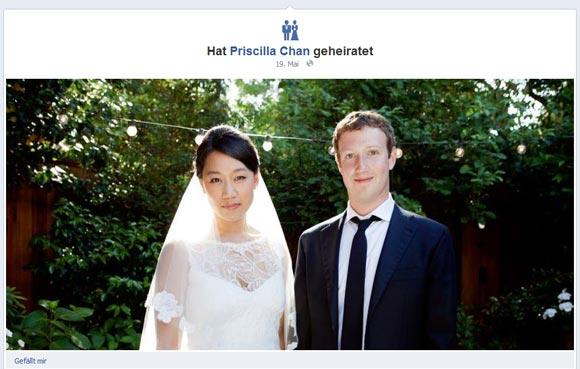 Hochzeit Mark Zuckerberg